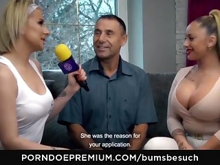 BOOTIES BESUCH - Huge-Chested German pornography starlet Dana Jayn tears yon grown up inexperienced fanboy