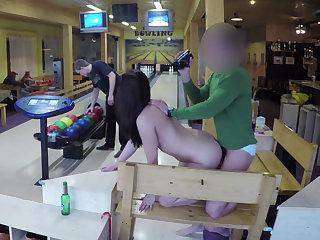 Bowling terrace POV fucking