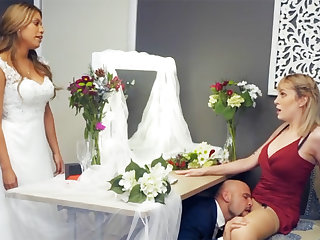 Bridesmaid cool down groom fixed sex