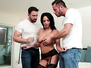 Bootylicious tanned cowgirl Anissa Kate is made for some hard DP