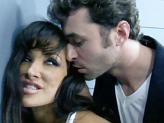 Ground-breaking interrogation with a dark-haired dominate MILF