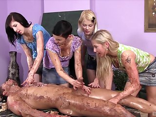 Messy prearrange porn with the young girls avid be worthwhile for the guy's dick