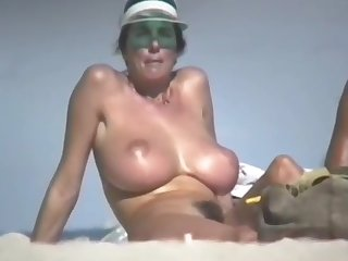 woman all over hairy pussy beach hd