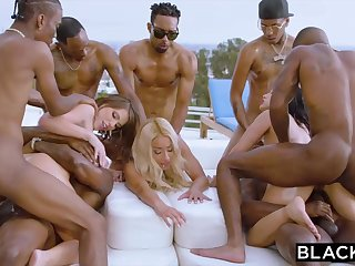 Teanna Trump, Adriana Chechik coupled in Vicki Pursue are orgying during a vacation, in dark-hued men