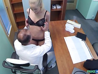 Blonde at all events Adriana Dryli got fucked by her dirty doctor