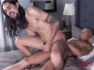 Excellent hard sexual relations in anal scenes for two gay lovers