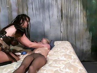 Lesbian spanking bondage plus bdsm