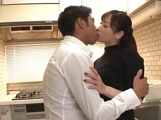 Japanese wife pleases hubby with sex as soon as he returns home