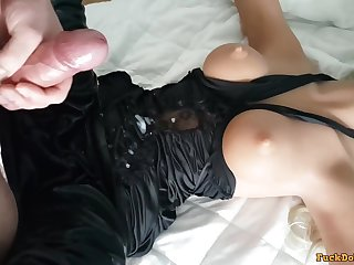 busty Sex doll screwed beyond the couch