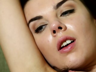 Close up amateur video od Dakota carrying-on with her tunnel of love