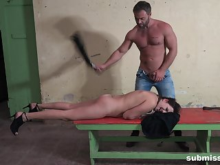 Man spanks his bitch then fucks her ass imperturbable