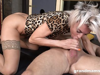 Stylish mature bawd is partly clothed as she rides distinct cock on top